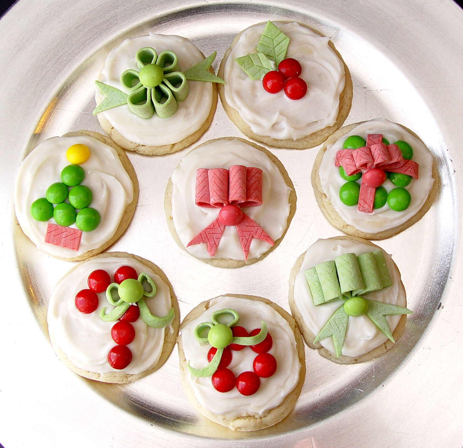 Decorated Christmas Sugar Cookies  Candy Decorated Christmas Sugar Cookies