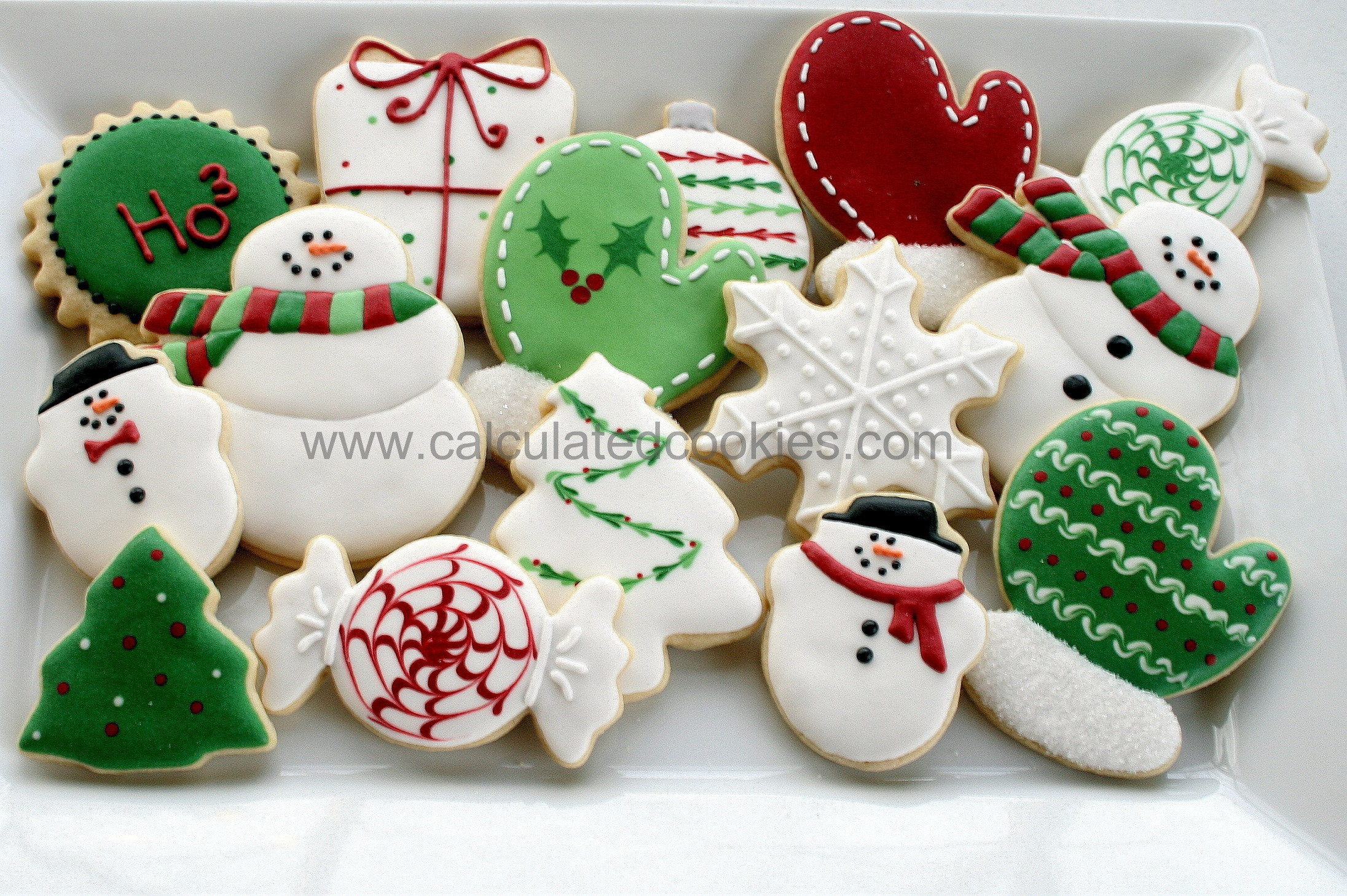Decorated Christmas Sugar Cookies  2012 Archives Calculated CookiesCalculated Cookies
