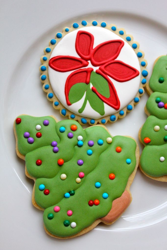 Decorated Christmas Sugar Cookies  1655 best images about cookies Christmas on Pinterest