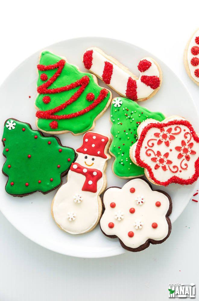 Decorated Christmas Sugar Cookies  Christmas Sugar Cookies Cook With Manali