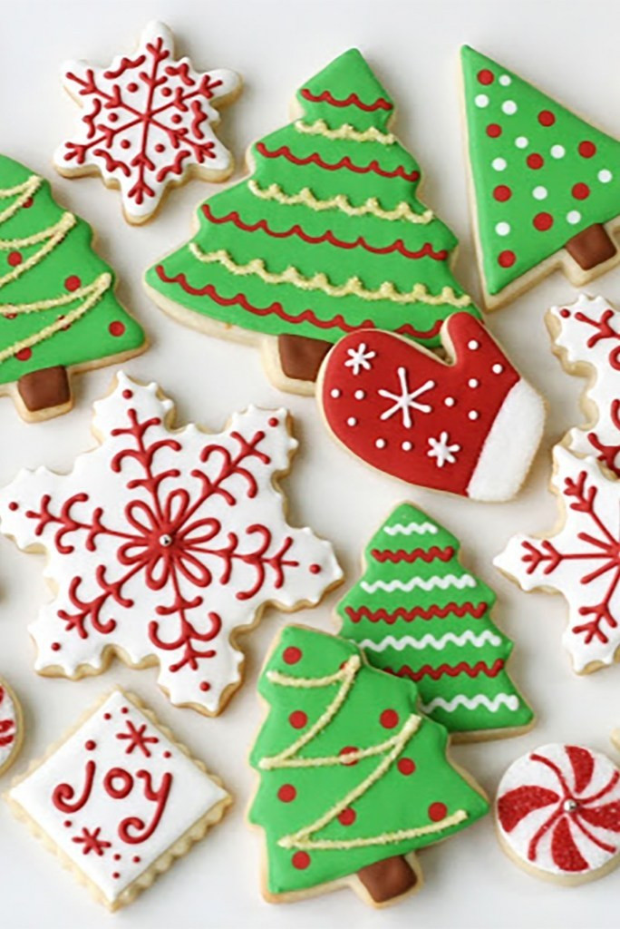 Decorated Christmas Sugar Cookies  Decorated Christmas Cookies