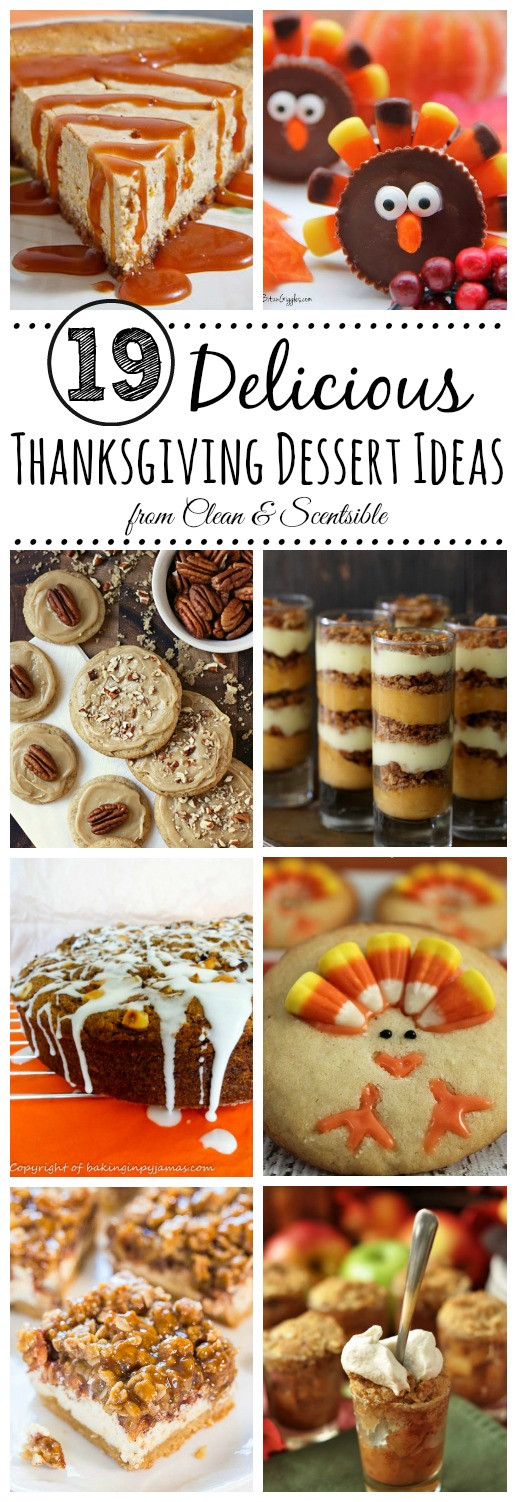 Delicious Thanksgiving Desserts  Delicious Thanksgiving Desserts Clean and Scentsible