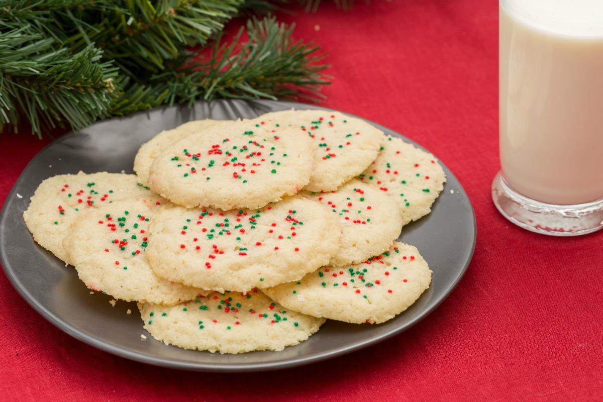 Delish Christmas Cookies  3 Ingre nt Sugar Cookies Holiday Cookie Ideas Delish