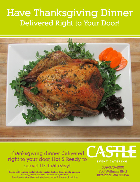 Delivered Thanksgiving Dinners  Castle Catering s Thanksgiving Delivery In Richland