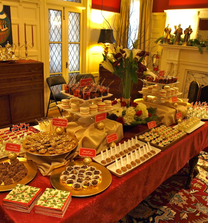 Desserts For Christmas Party  a party style xmas in july holiday dessert table