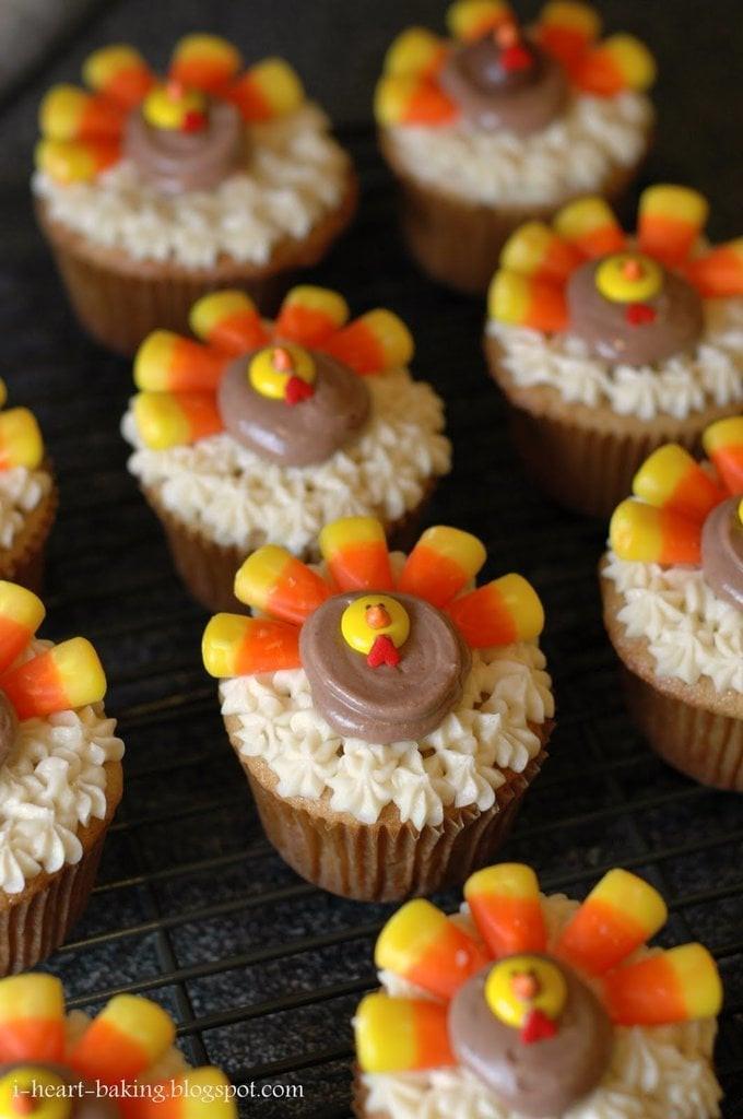 Desserts For Thanksgiving  Turkey Cupcakes