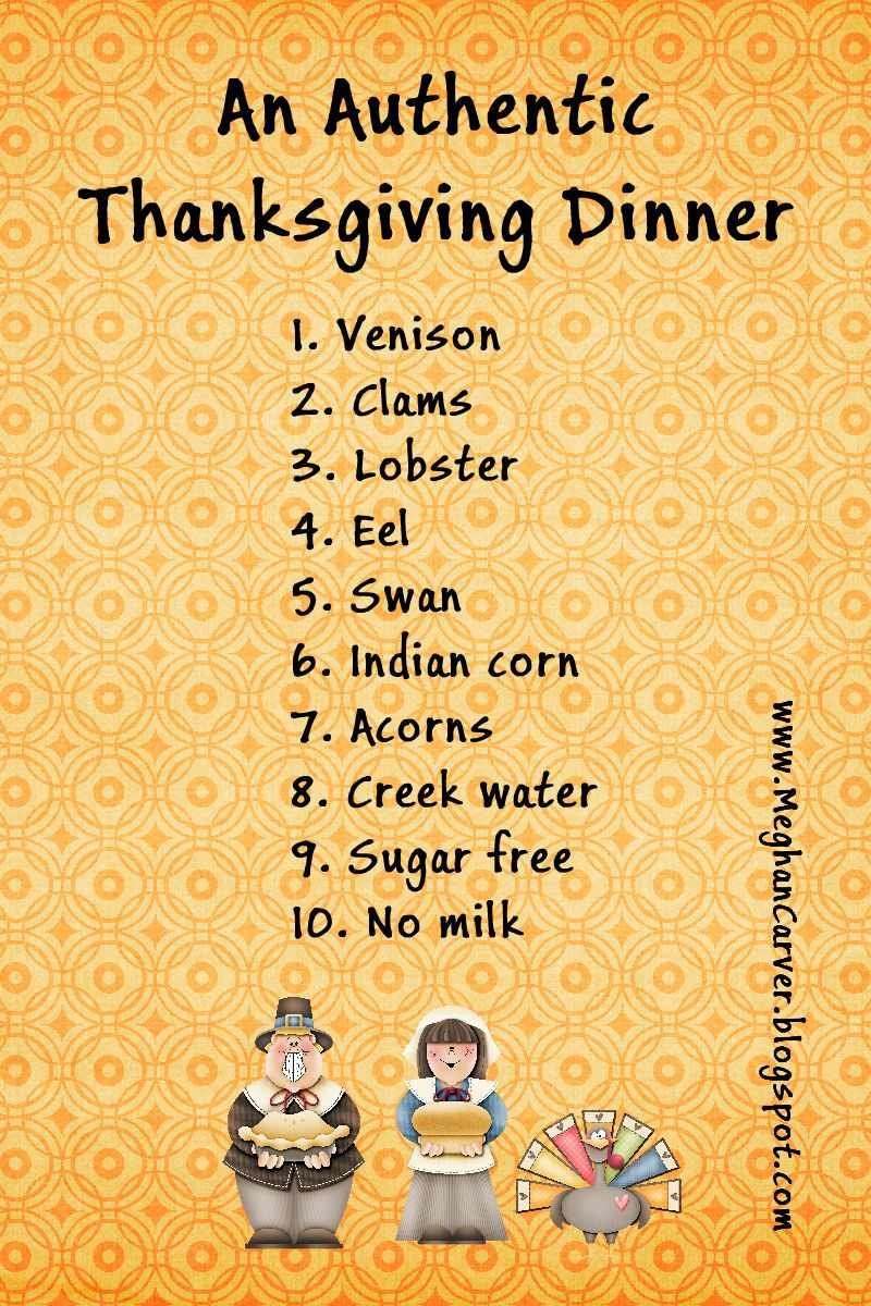 Did The Pilgrims Eat Turkey On Thanksgiving  Meghan Carver So You Want an Authentic Thanksgiving