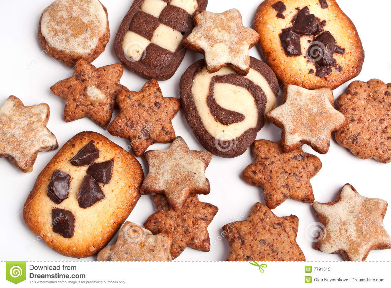 Different Christmas Cookies  Different Christmas Cookies Royalty Free Stock