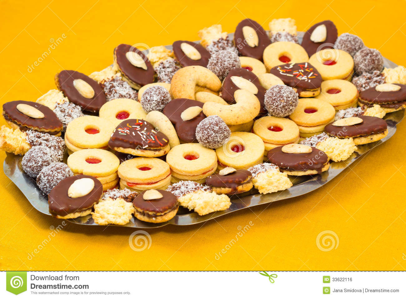 Different Christmas Cookies  Czech Christmas cookies stock photo Image of cake