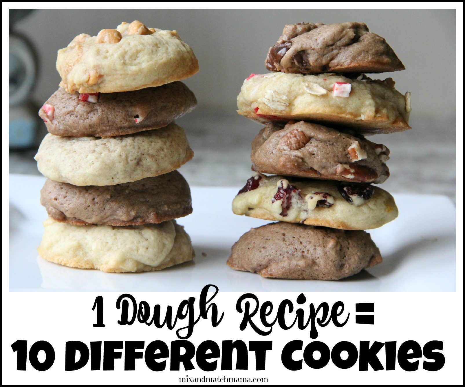 Different Christmas Cookies  e Dough Recipe= 10 Different Cookies