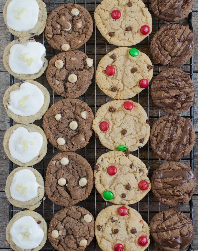Different Christmas Cookies  1 Dough 4 Christmas Cookies Bless This Mess