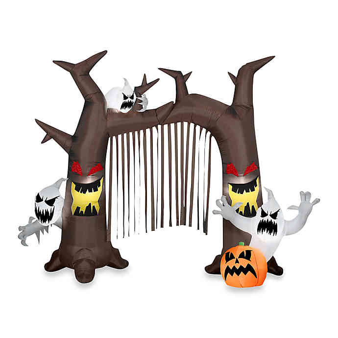 Discontinued Archway Christmas Cookies  Inflatable Outdoor Archway Ghostly Tree with Pumpkins