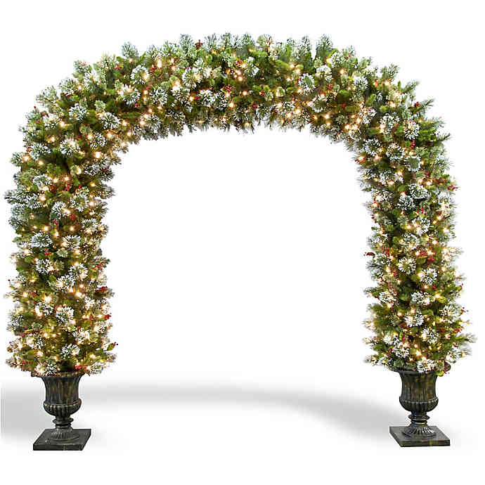 Discontinued Archway Christmas Cookies  National Tree 8 Foot 6 Inch Wintry Pine Pre Lit Archway