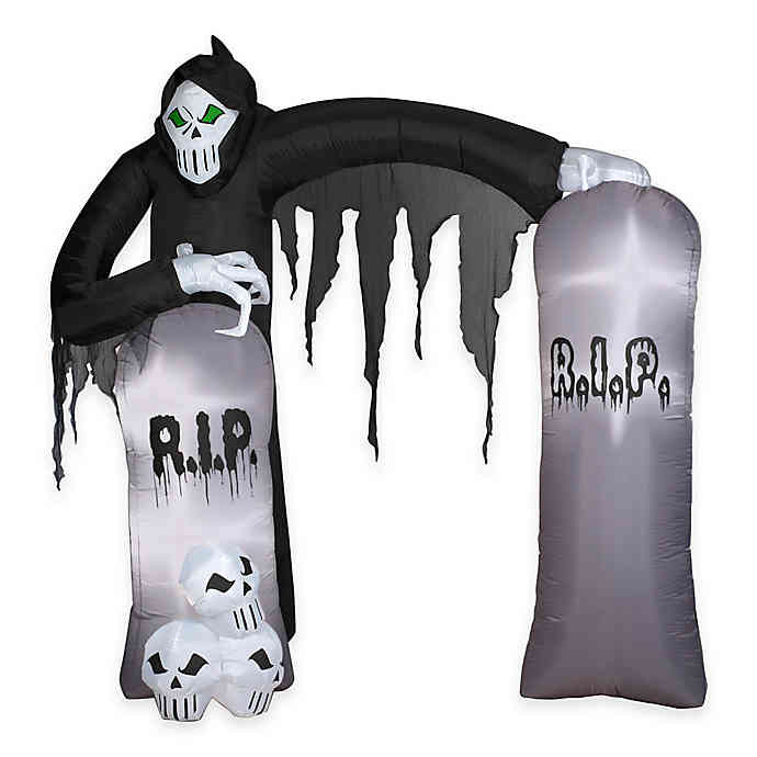 Discontinued Archway Christmas Cookies  Inflatable Outdoor 8 1 2 Foot Archway Reaper