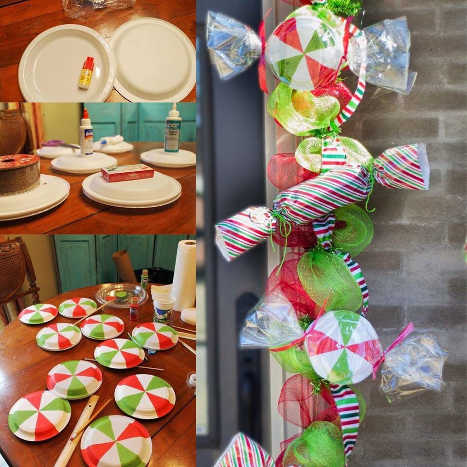 Diy Christmas Candy  diy candy garland PARTY PROPS Pinterest