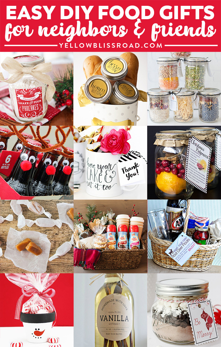 Diy Christmas Food Gifts  Bud Gifts Ideas for Friends and Neighbors Homemade