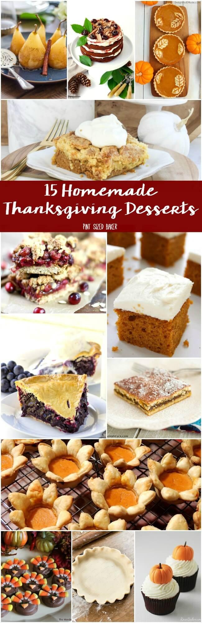 Diy Thanksgiving Desserts  Homemade Thanksgiving Desserts Pint Sized Baker