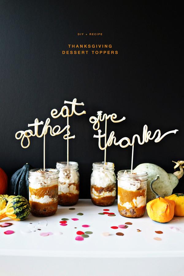 Diy Thanksgiving Desserts  Thanksgiving Dessert Toppers DIY Recipe