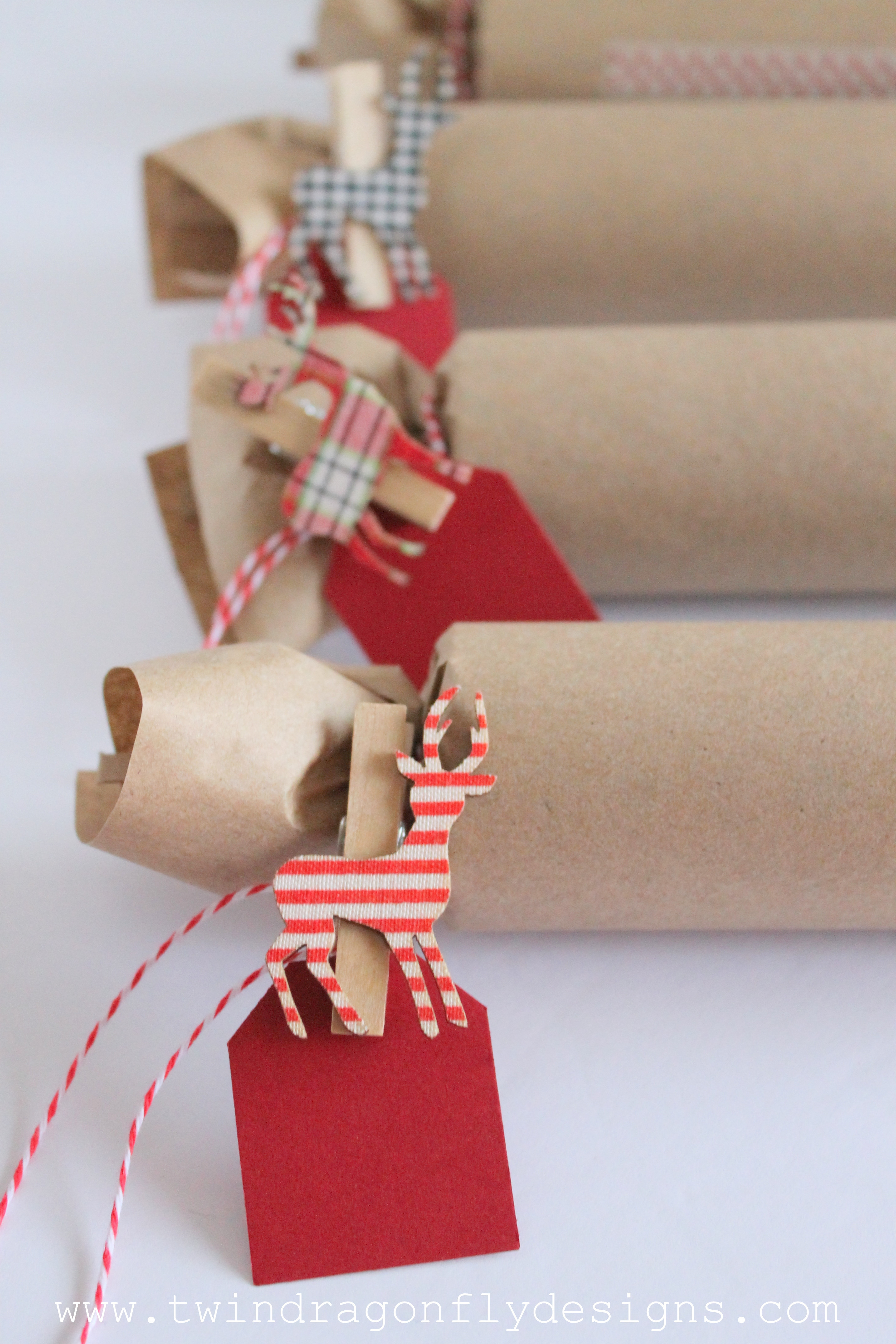 Do It Yourself Christmas Crackers  DIY Holiday Cracker Dragonfly Designs