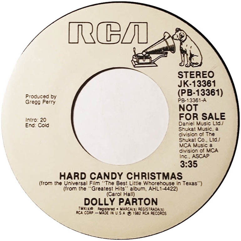 Dolly Parton Hard Candy Christmas Song  45cat Dolly Parton Hard Candy Christmas Hard Candy