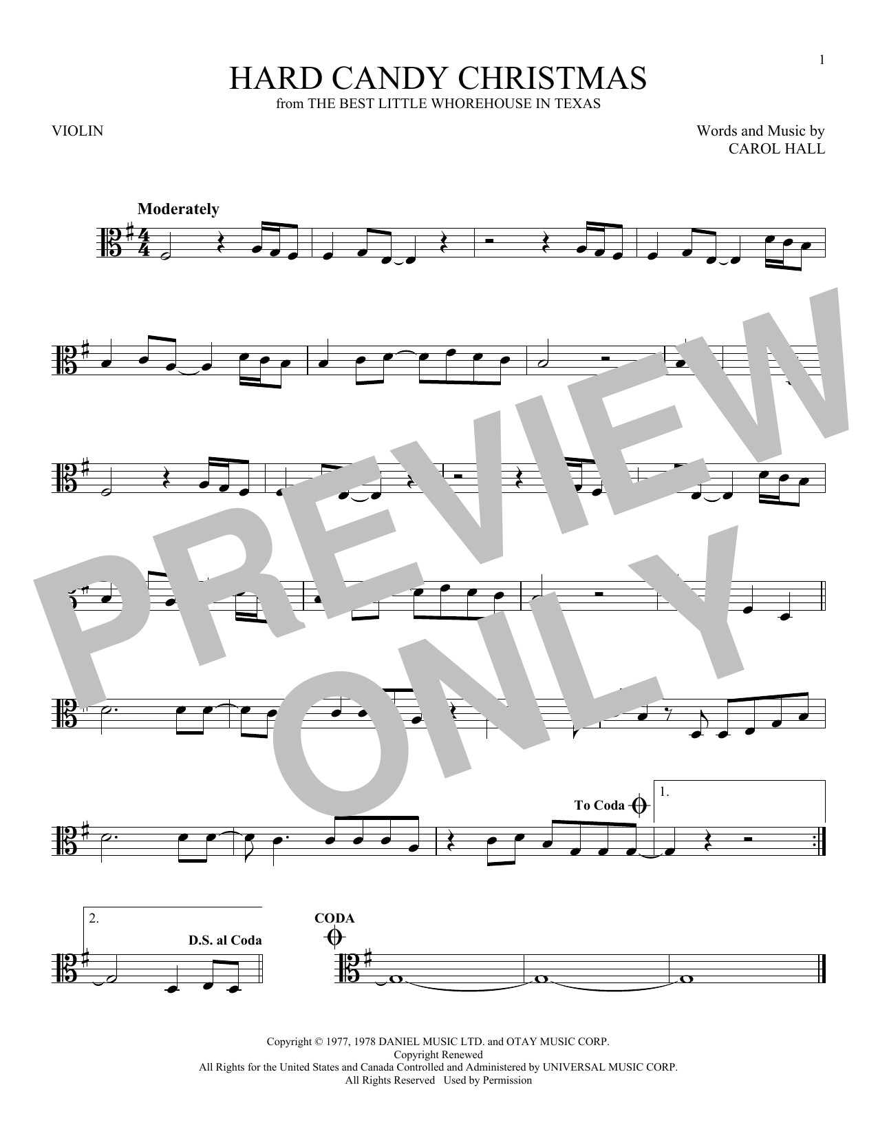 Dolly Parton Hard Candy Christmas Song  Dolly Parton Hard Candy Christmas sheet music