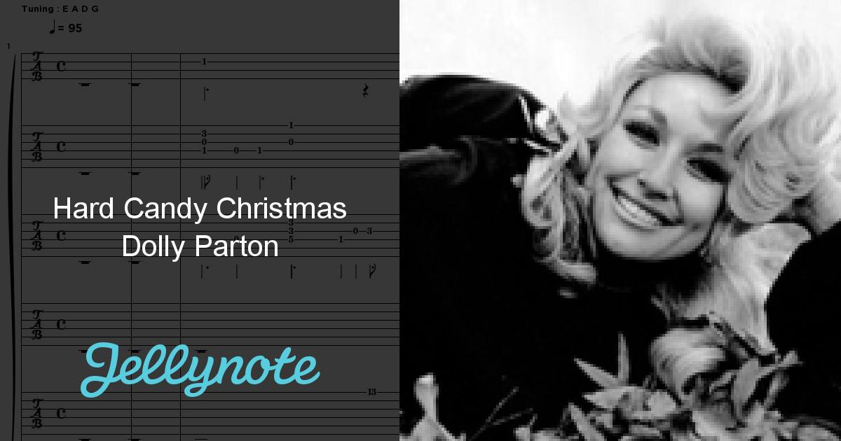 Dolly Parton Hard Candy Christmas Song  Hard Candy Christmas Dolly Parton Free Sheet Music & Tabs
