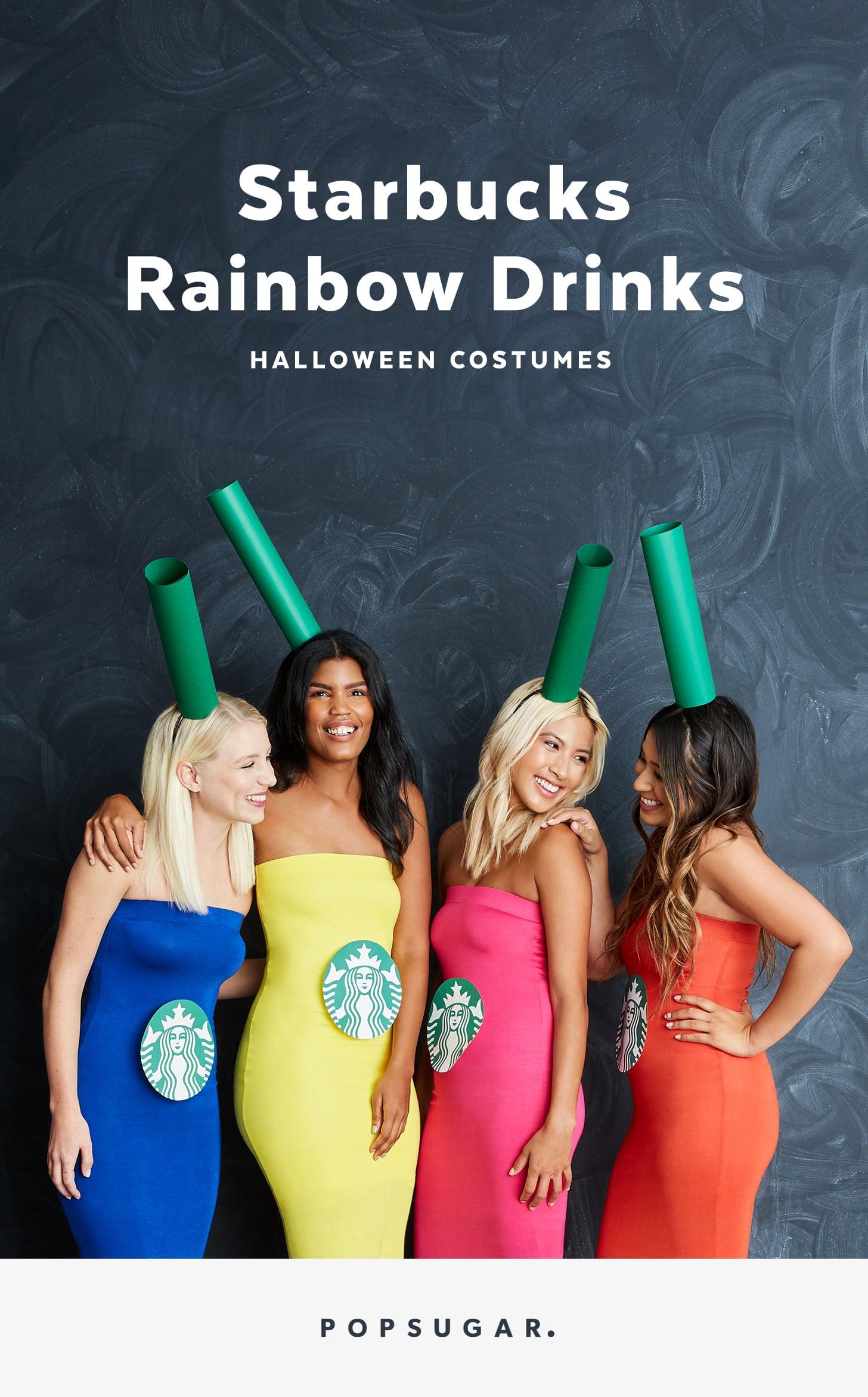 Drinks Halloween Costumes  DIY Starbucks Group Halloween Costume