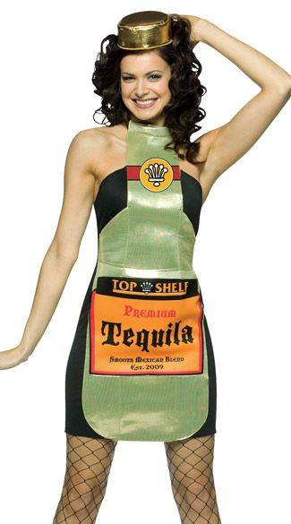 Drinks Halloween Costumes  Top Shelf Tequila Adult Costume Drinks Costumes