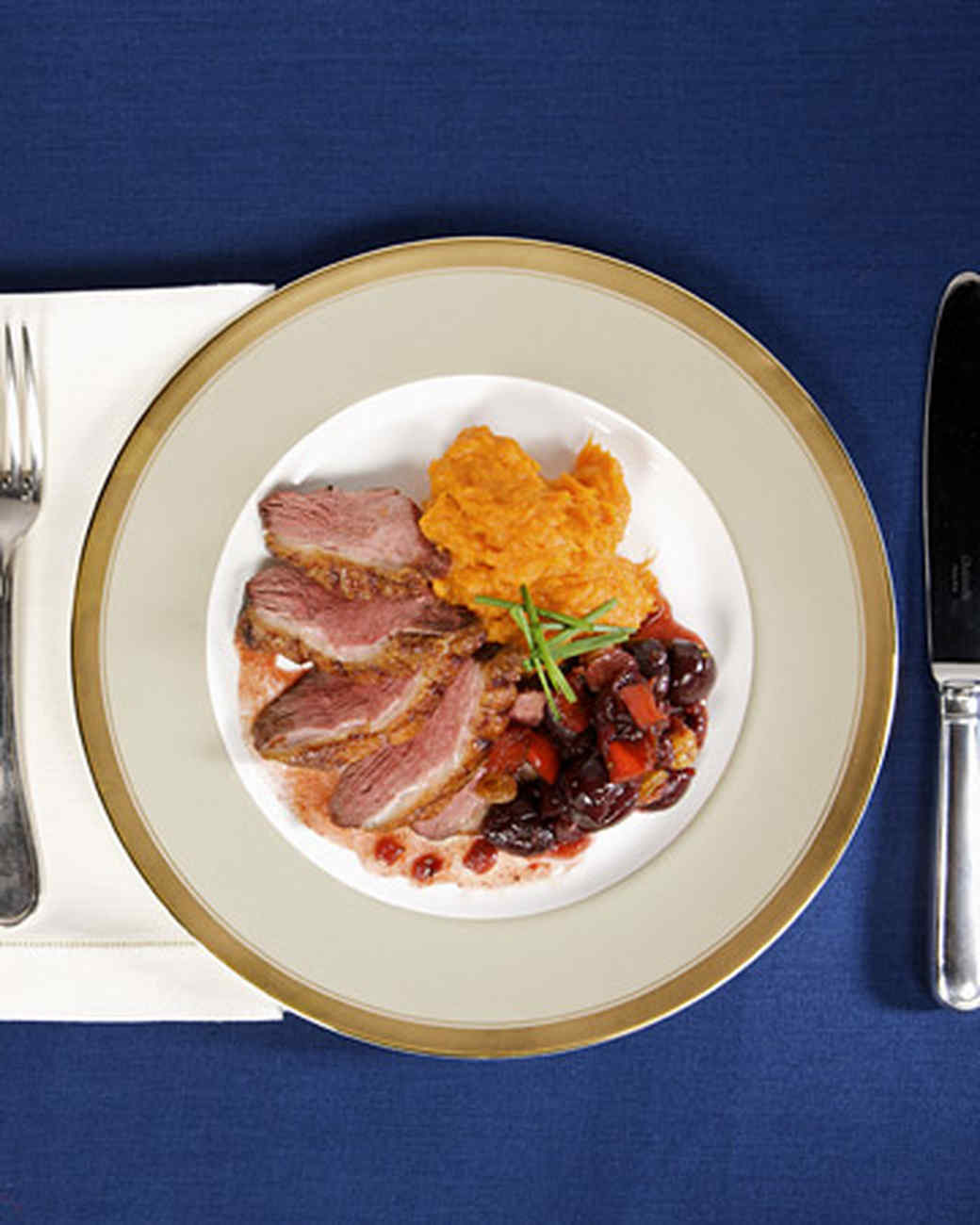 Duck Recipes For Thanksgiving  Duck Breast with Cherry Chutney Recipe & Video