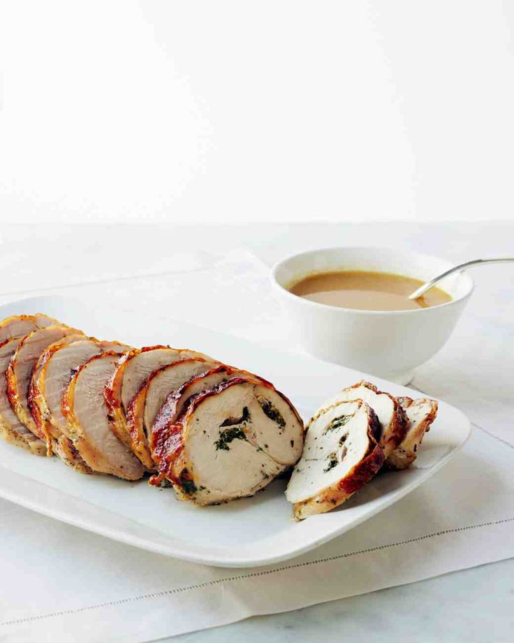 Duck Recipes For Thanksgiving  Roasted Rolled Turkey Breast with Herbs Recipe