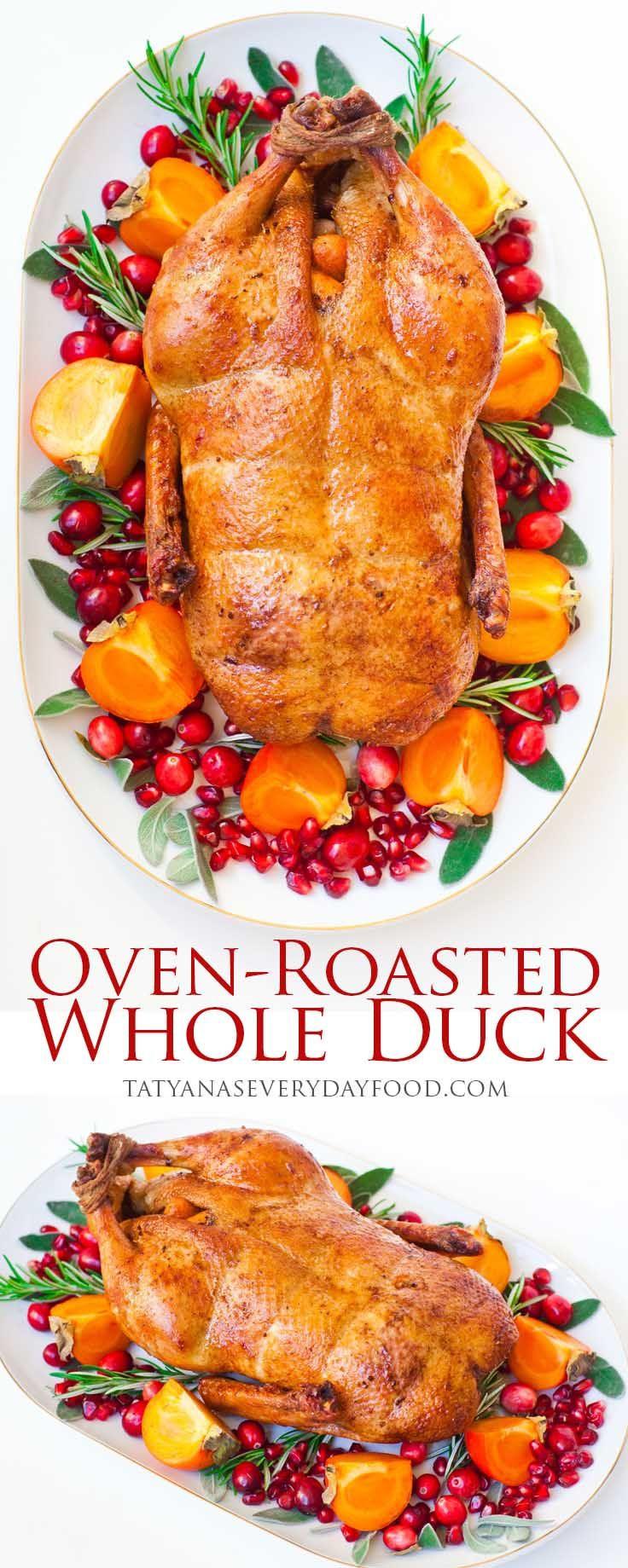 Duck Recipes For Thanksgiving  Best 25 Roast duck ideas on Pinterest