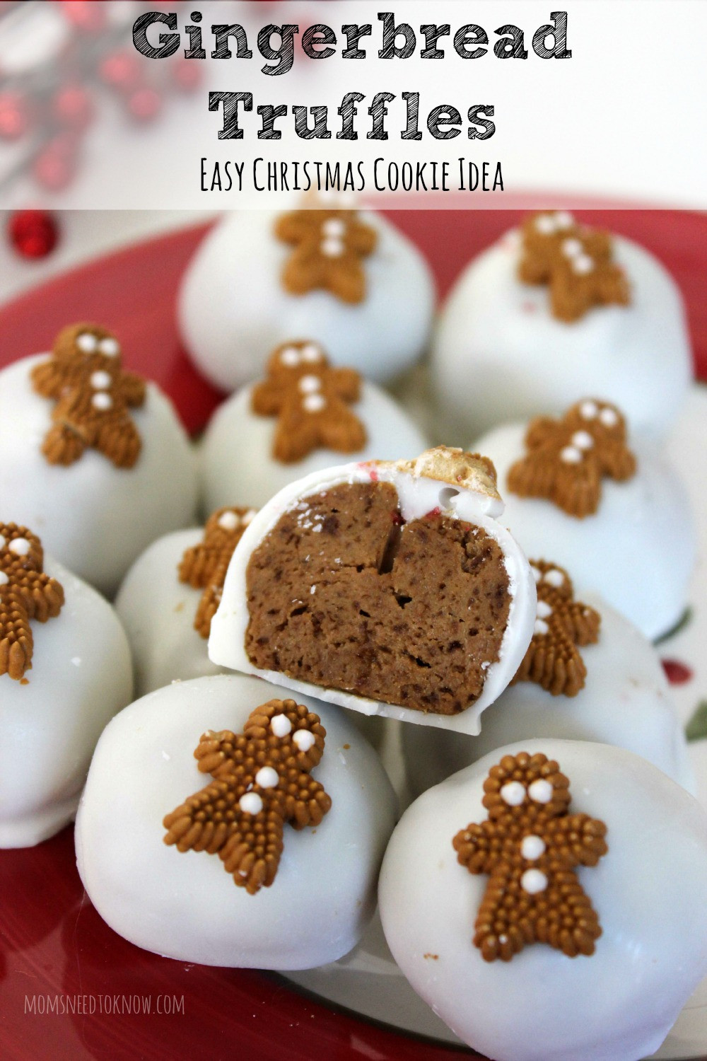 Easy Bake Christmas Cookies  Easy No Bake Gingerbread Truffles Recipe