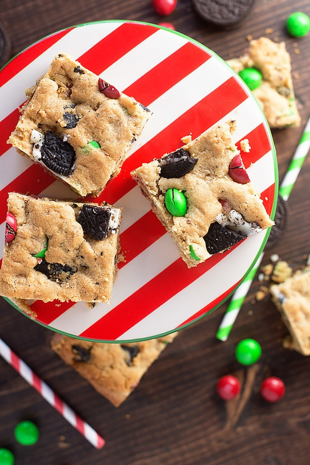 Easy Christmas Bar Cookies  Peanut Butter Oreo Christmas Cookie Bars — Buns In My Oven