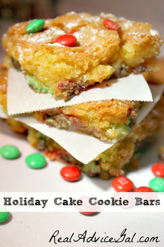 Easy Christmas Bar Cookies  Easy Holiday Cake Cookie Bars Recipe Real Advice Gal