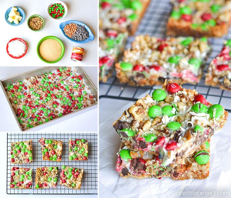 Easy Christmas Bar Cookies  Christmas Magic Cookie Bars e Little Project
