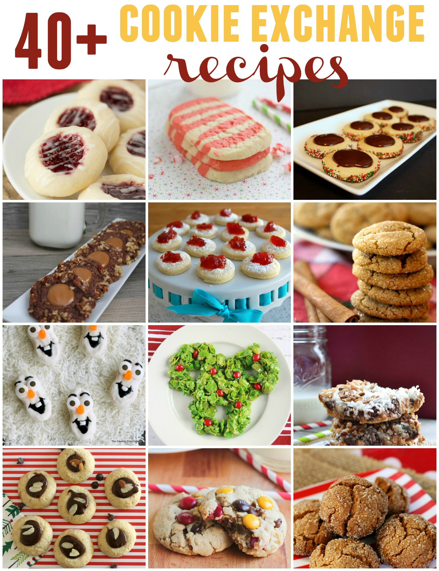 Easy Christmas Cookies For Cookie Exchange  40 Cookie Exchange Recipes and Christmas Thumbprint