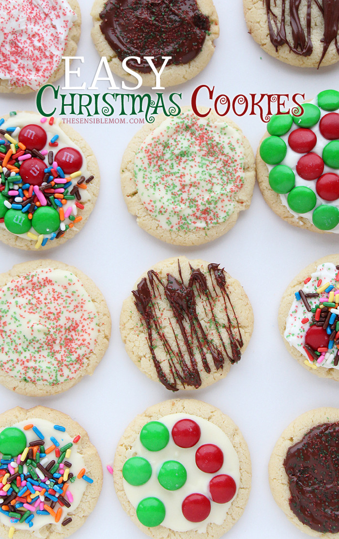 Easy Christmas Cookies For Kids  Recipe Easy Christmas Cookies The Sensible Mom
