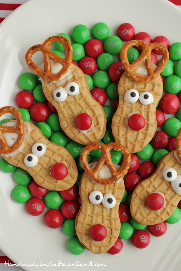 Easy Christmas Cookies For Kids  Nutter Butter Reindeers
