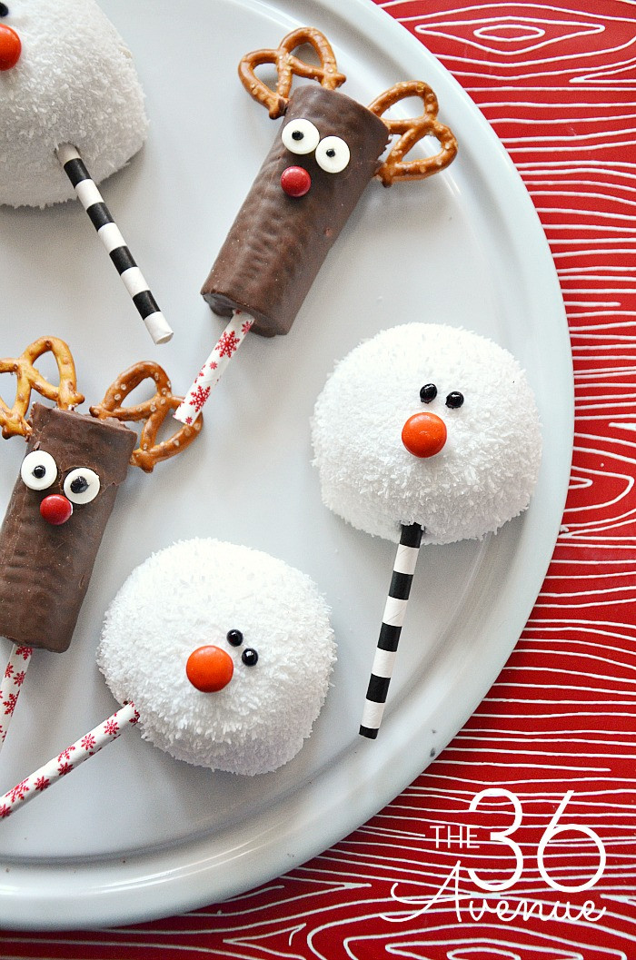 Easy Christmas Cookies To Make  Christmas Treats Reindeer and Snowman The 36th AVENUE