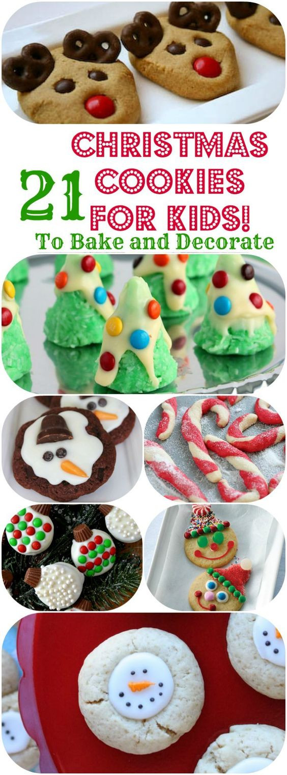 Easy Christmas Cookies To Make With Kids  Easy christmas cookie recipes Cookie recipes for kids and