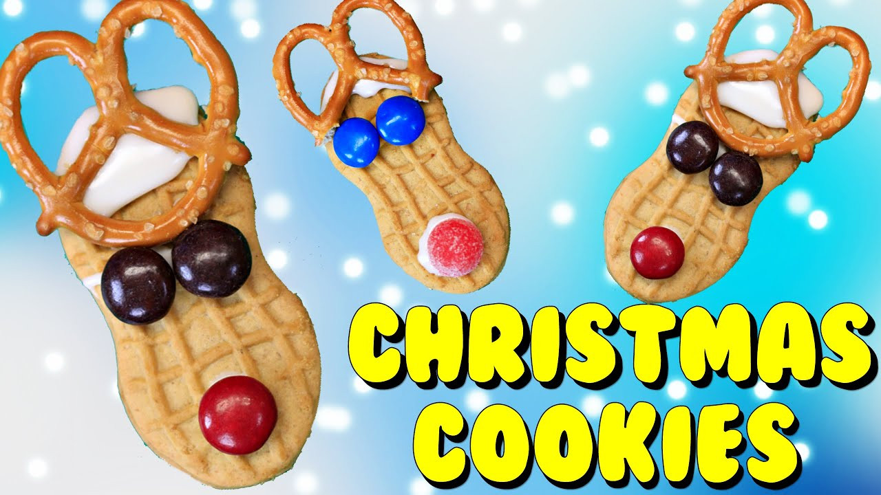 Easy Christmas Cookies To Make With Toddlers  Easy Christmas Cookies Tutorial for Kids Using Peanut