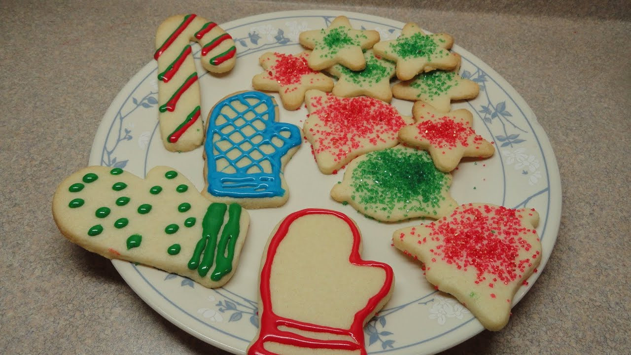 Easy Christmas Cut Out Cookies  Simple Sugar Cookie Cutout Recipe Christmas Cookie