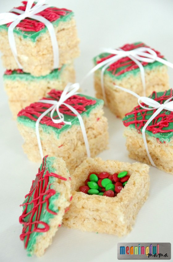 Easy Christmas Desserts For Kids  Christmas Rice Krispie Treats Clean and Scentsible
