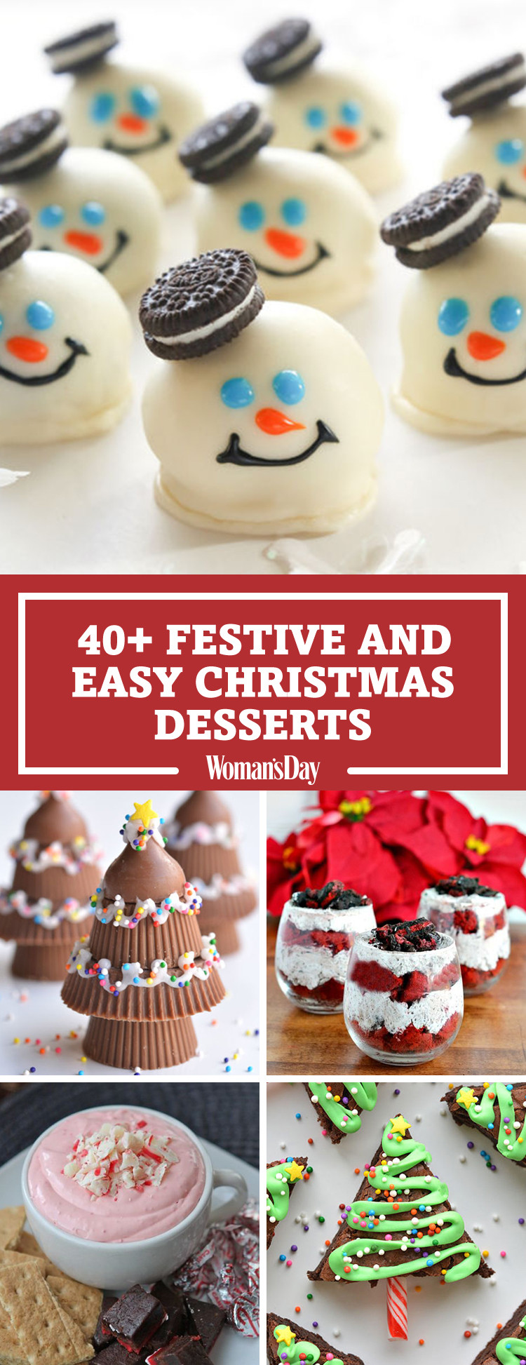 Easy Christmas Desserts  57 Easy Christmas Dessert Recipes Best Ideas for Fun