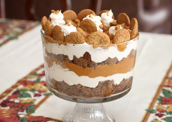 Easy Christmas Desserts  Holiday Pumpkin Gingerbread Trifle – A Simple Holiday
