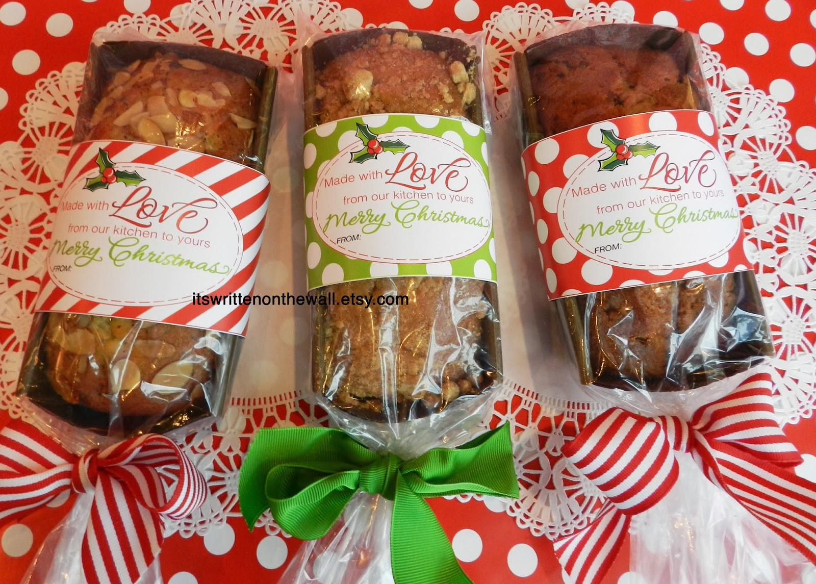 Easy Christmas Food Gifts  It s Written on the Wall Add a Christmas Tags to your