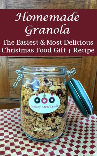 Easy Christmas Food Gifts  Granola The Easiest and Most Delicious Christmas Food Gift