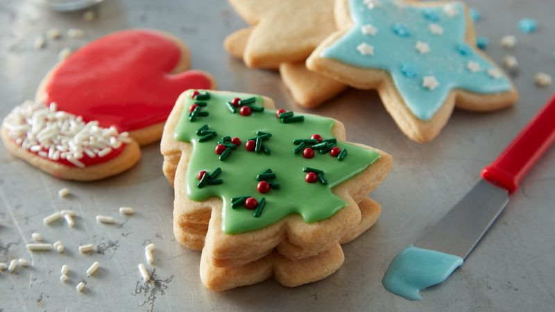 Easy Christmas Sugar Cookies  Easy Christmas Sugar Cookie Cutouts Recipe BettyCrocker
