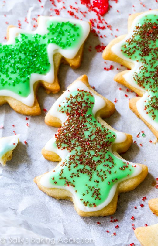 Easy Christmas Sugar Cookies Recipes  Holiday Cut Out Sugar Cookies with Easy Icing Sallys