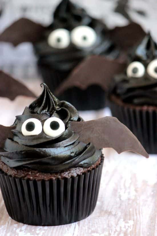Easy Halloween Cakes  Easy Bat Cupcakes A Cedar Spoon